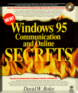 Windows 95 Communication and Online Secrets Book Cover